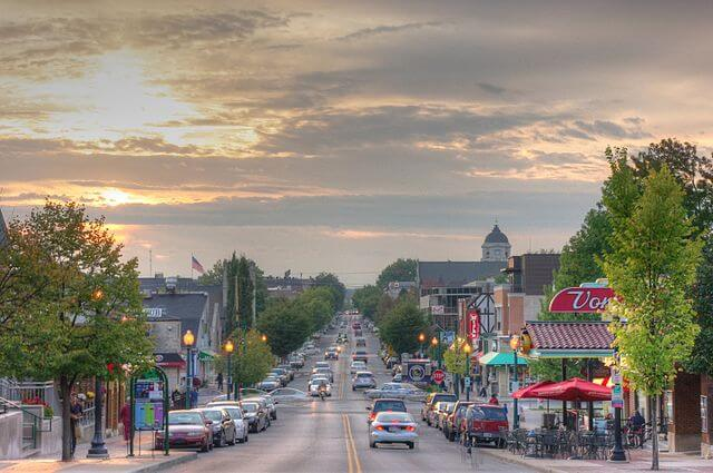 bloomington, indiana college town