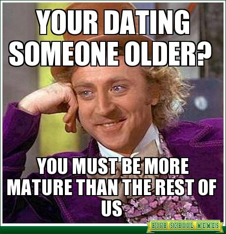 Dating someone younger than you
