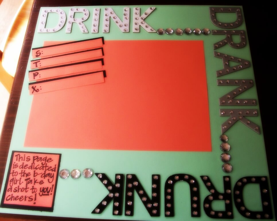 How to Make a 21st Birthday Shot Book