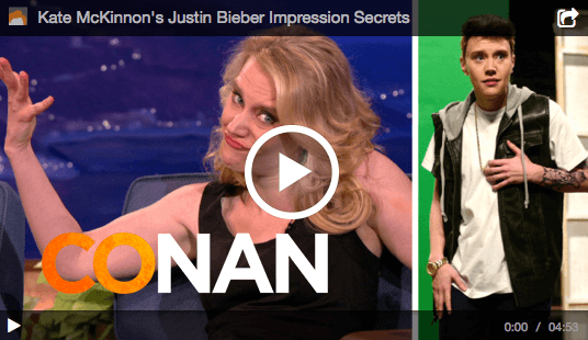 The Daily Procrastination: Kate McKinnon's Justin Beiber Impression Secret (VIDEO)