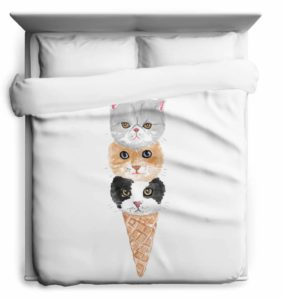 kitty cone duvet