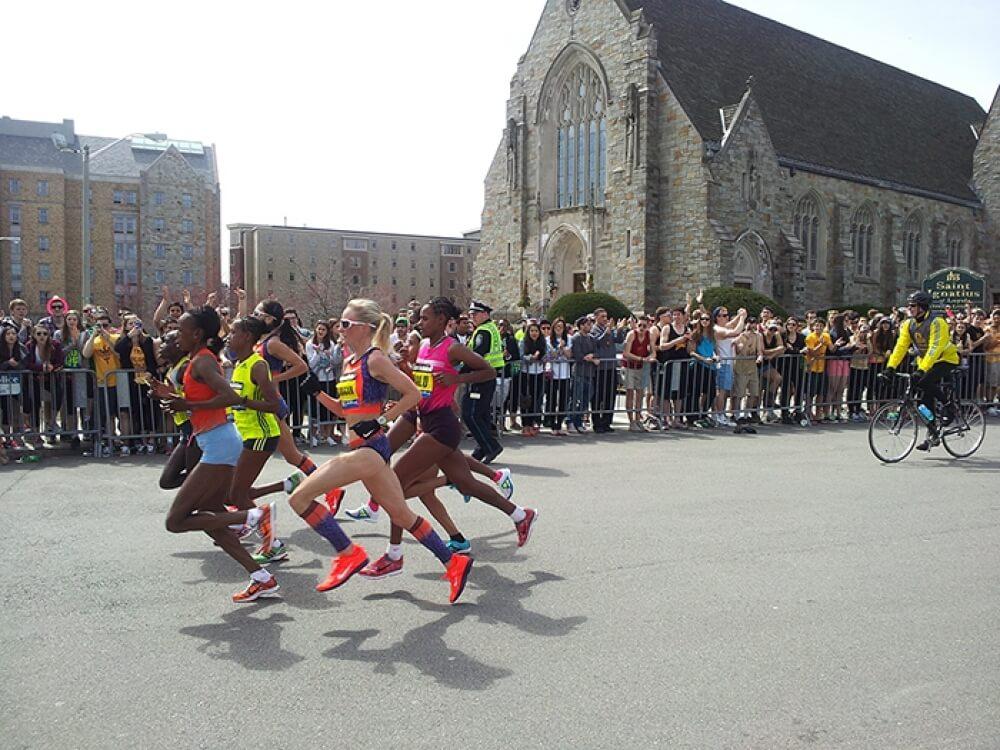 Boston College Streaking Through the Quad