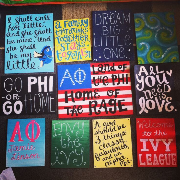10 gifts every little wants from her big college magazine for Sorority crafts for little