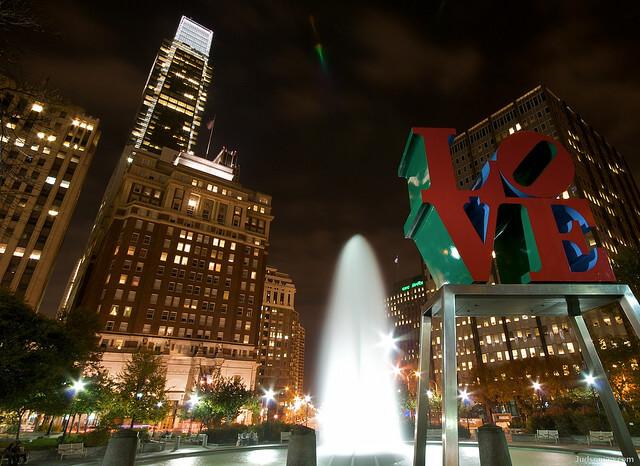 """""""Love Park"""" in Philadelphia, PA. via flickr.com"""
