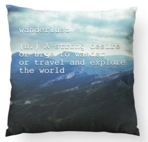 Wanderlust pillow best friend gift