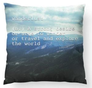 wanderlust pillow best friend gift