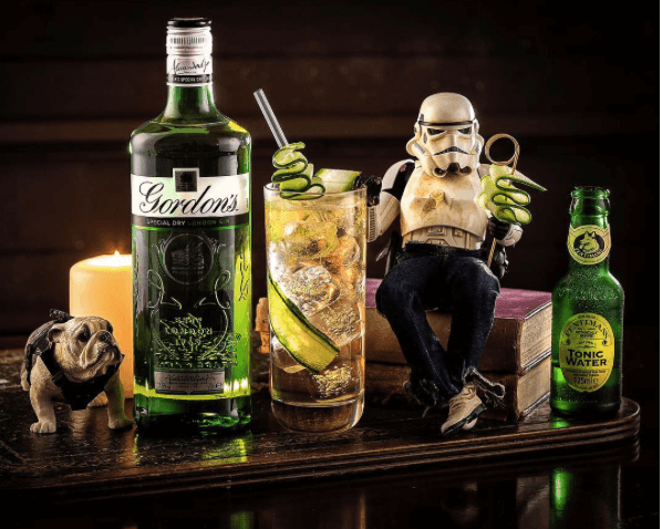 Darryll Jones instagram storm trooper drinking gin