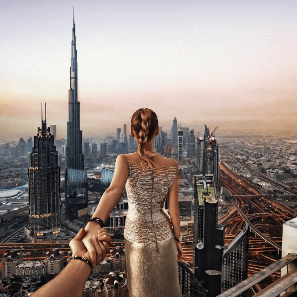 Murad Osmann instagram girlfriend leads hand in dubai