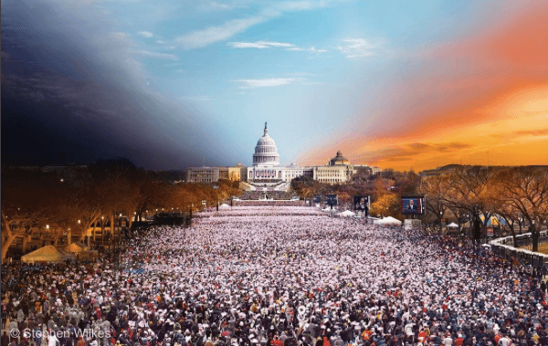 national geographic instagram photo of barack obama's second inauguration in DC in 2013