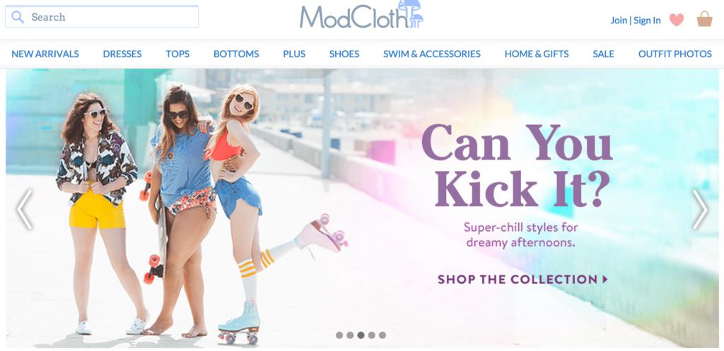Screenshot via modcloth.com