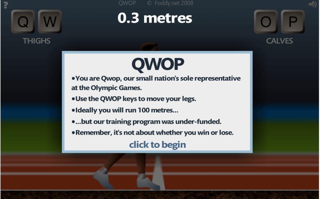 Screenshot via QWOP