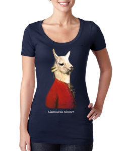 llamadeus scoop women's t-shirt