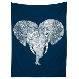 punch trunk love elephant tapestry gift for your girlfriend