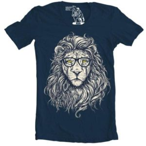 hipster lion tshirt