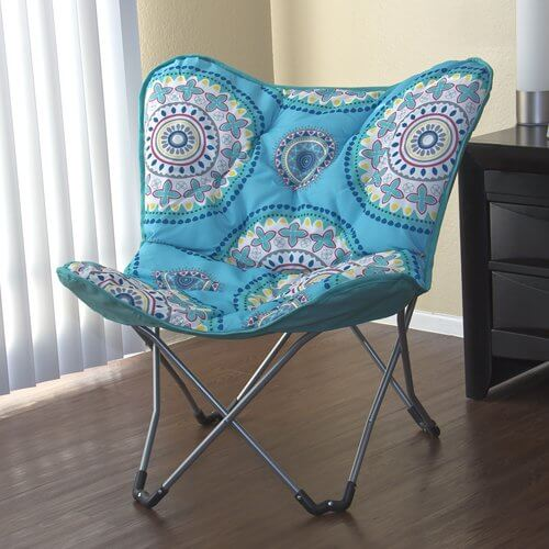 Best Choice Products Padded Butterfly Lounge Chair Dorm Room Bedroom Folding  ...