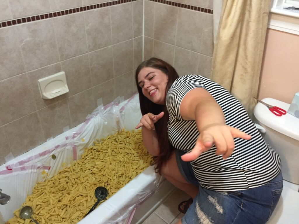 21st birthday macaroni bath tub
