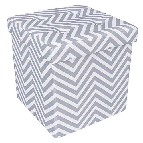 songmics chevron storage ottoman cube - Storage Ottoman Cube