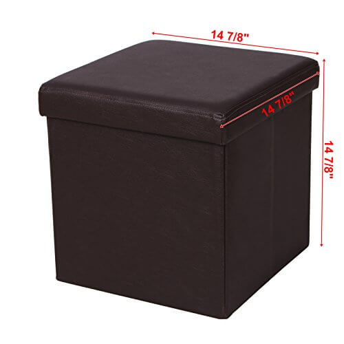 SONGMICS Faux Leather Folding Storage Ottoman ...  sc 1 st  College Magazine & SONGMICS Faux Leather Folding Storage Ottoman Cube Foot Rest Stool ... islam-shia.org