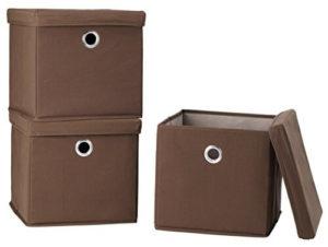Storagemaniac Canvas Storage Box With Lid Folding Lidded