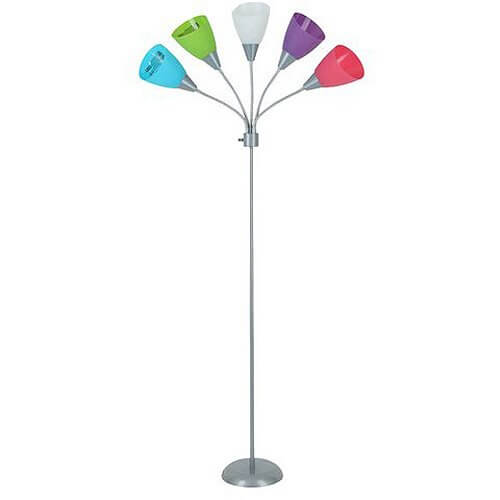 Your Zone 5 Light Floor Lamp U2013 Pink