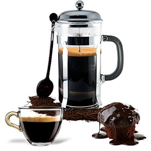 French Press Coffee Tea Maker Complete Bundle 8 Cups 34 Oz Best Pot With Stainless Steel Heat Resistant Gl 0 3