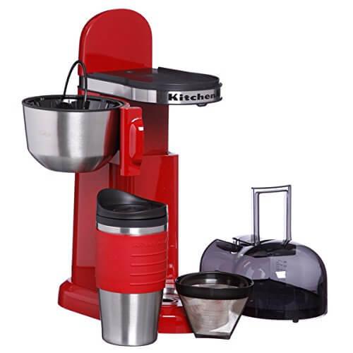 KitchenAid KCM0402ER Empire Red Personal Coffeemaker College