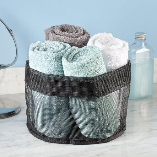 interdesign una bathroom shower caddy tote for shampoo college magazine. Black Bedroom Furniture Sets. Home Design Ideas
