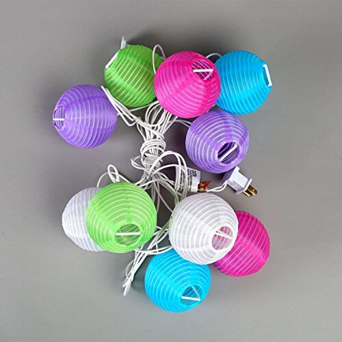 set of 10 indoor  outdoor mini oriental style nylon lantern