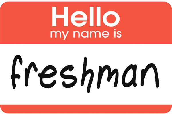 freshman name tag