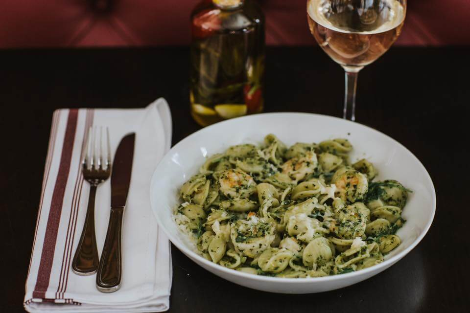 Centrale's pesto pasta dish is to die for.