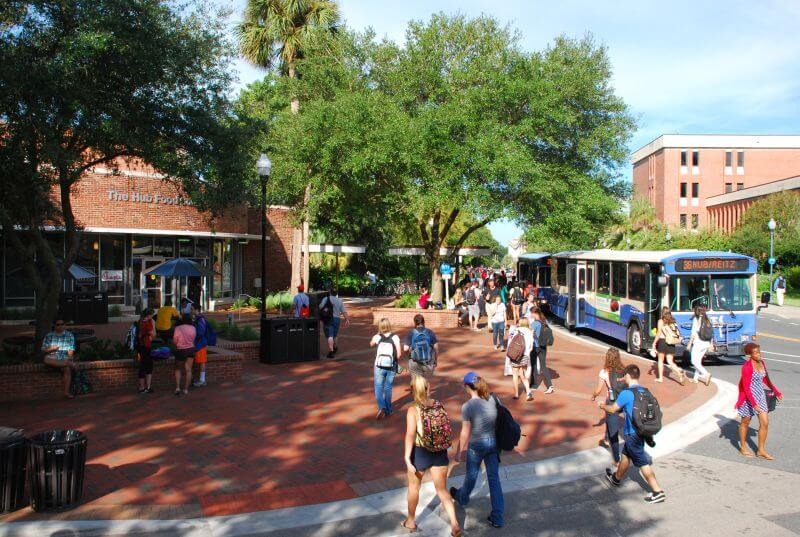 The Hub at UF is a favorite place for students to eat and do homework