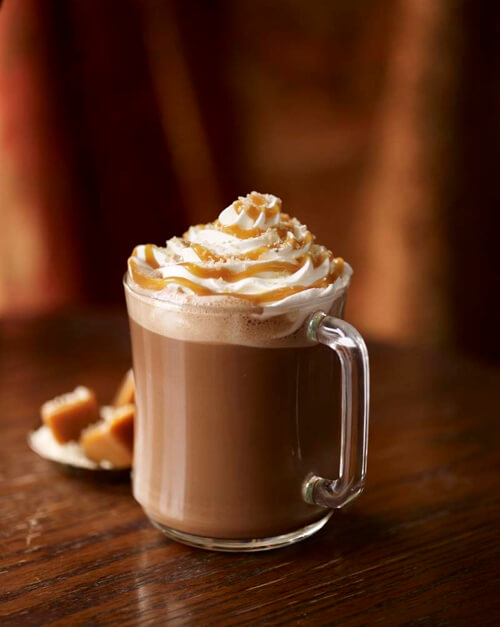 Salted Caramel Hot Chocolate drinks at Starbucks taste delicious.