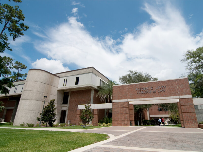 The Levin School of Law Library is a great place to study at UF