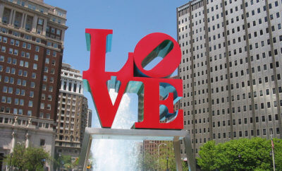The love sign in philadelphia