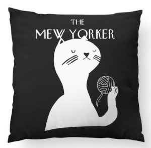 Mew Yorker throw pillow best friend gifts