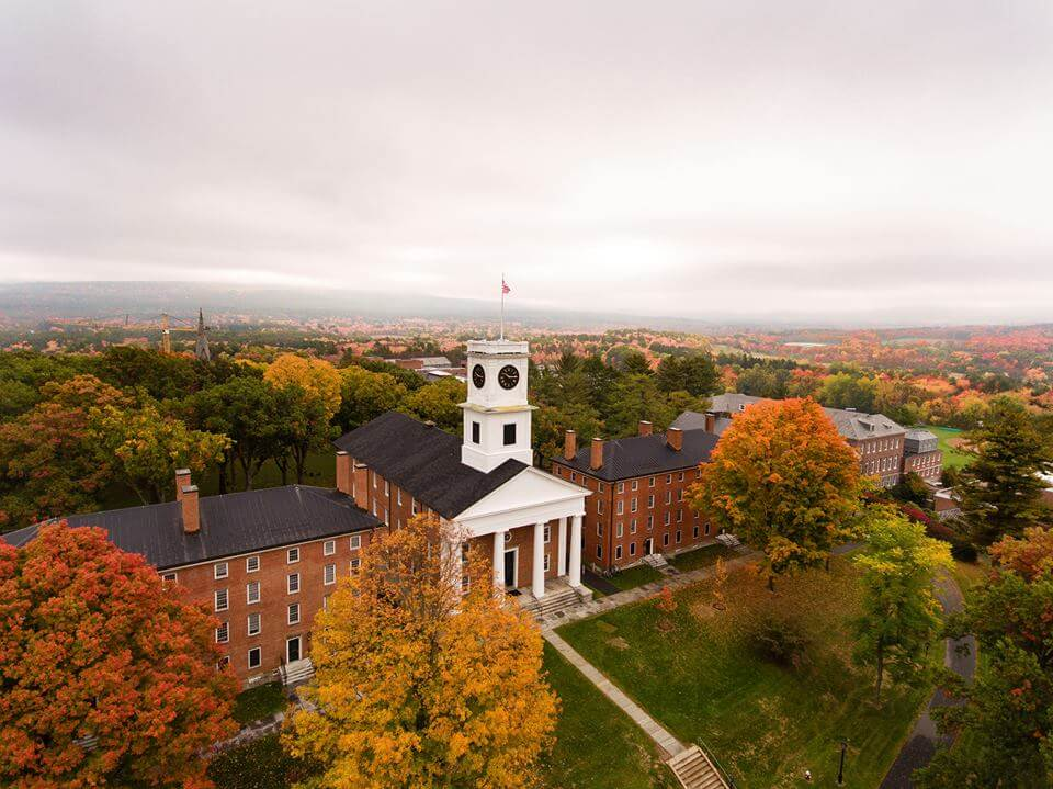 Amherst campus during fall