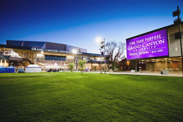 Grand Canyon University arena packs crowds in the winter.