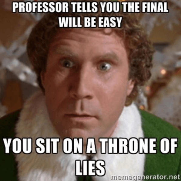Professors sit on a throne of lies
