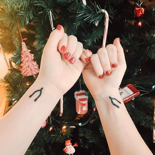 get matching tattoos as a gift for your sister