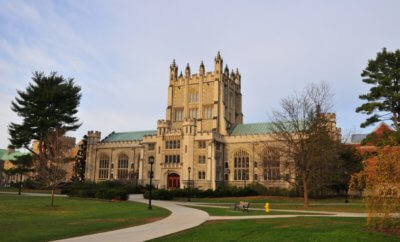 Thompson library External at vassar college