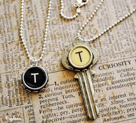 DIY Typewriter Jewelry for your Hipster Friend