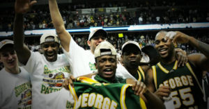 The mens basketball team of george mason during the final four run