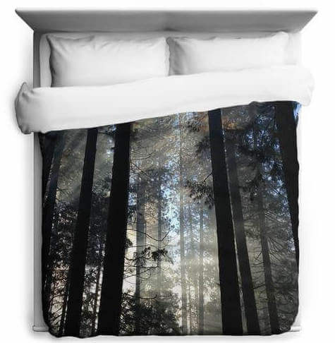 "Let the ""light through"" duvet cover get you through finals week."