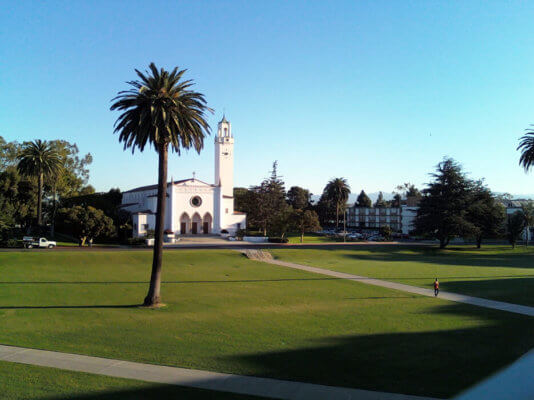 The Sunken Gardens is a LMU campus favorite.