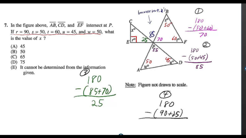 practice question for SAT math test