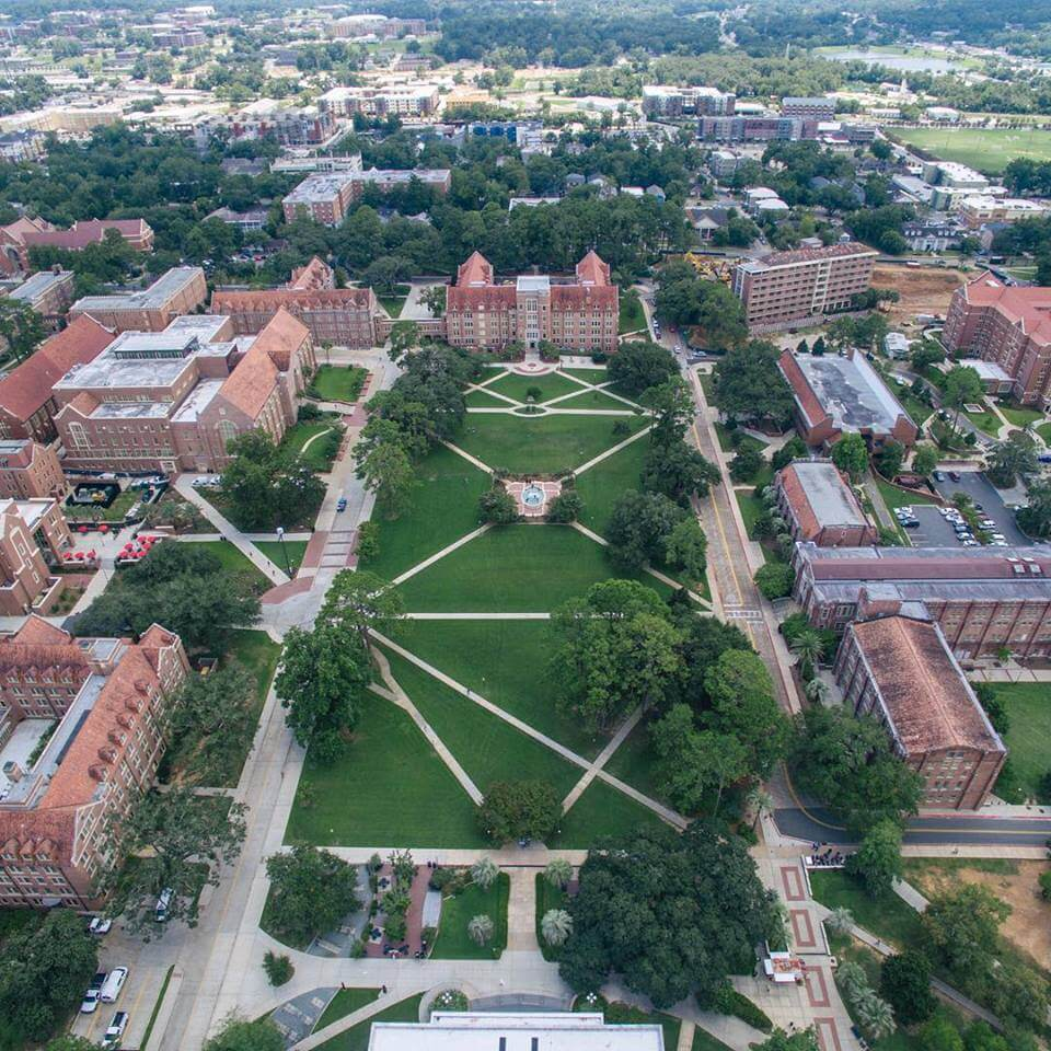 An overhead view of FSU's campus is so breathtaking.