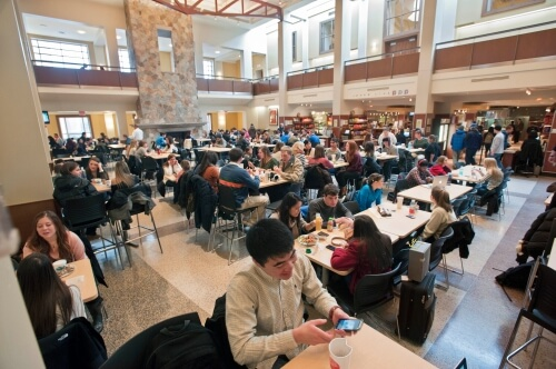 Lower Dining Hall at BC's campus has iffy coffee.