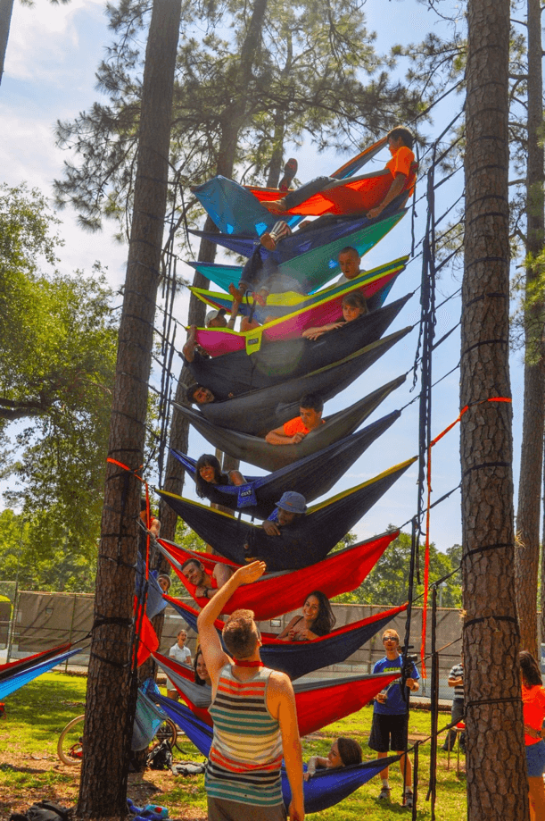multiple hammocks from hammock uf hanging between trees