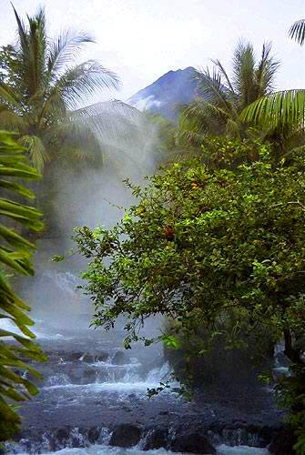 After a day of Costa Rican adventures, warm up in the Tabacon Hot Springs.