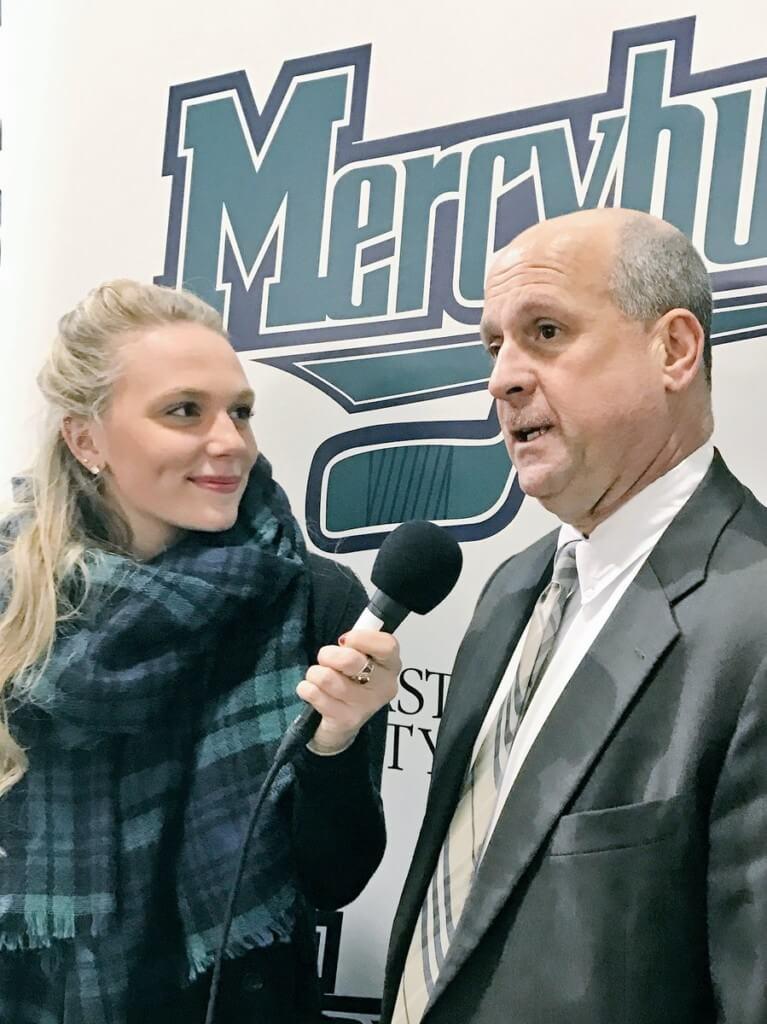 Mercyhurst University New Media internship intern conducting interviewing